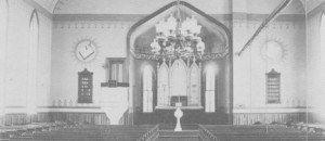 Original Church Altar in Third Church 1891