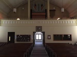 Inside Back of Church