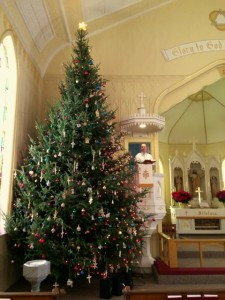 Inside Church Christmas Tree