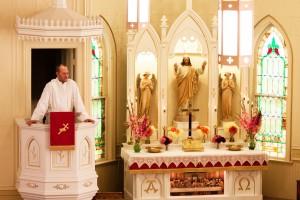 Pastor in Pulpit